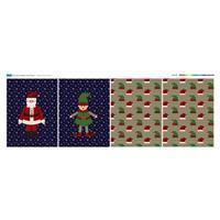Medium Elf & Santa Christmas Bag (140 x 54cm)