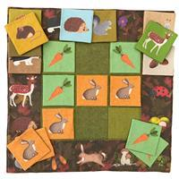 The Crafty Co. Woodland Creatures Game Kit: Instructions, Fabric Panel & Fabric (1.5m)