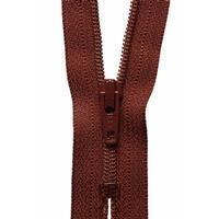 Rich Brown Nylon Dress and Skirt Zip 20cm