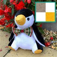 Delphine Brooks Silver Penguin Toy Kit: Instructions, Fleece (1m) & FQ (2pcs)