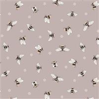 Lewis & Irene Queen Bee Mushroom Fabric 0.5m