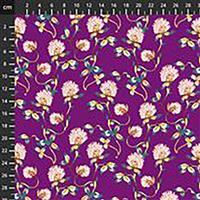 Forage Tranquil Flowers on Plum Fabric 0.5m