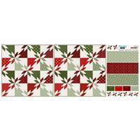 Hunters Star Christmas Mock Cushion Fabric Panel (140 x 57cm)