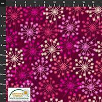 Flowers In The Wind Flowers on Ruby Fabric 0.5m