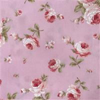 Floral Story Tossed Roses On Pink Fabric 0.5m - Sewing Street exclusive