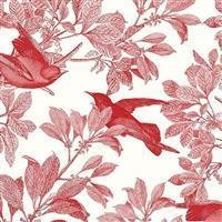 Riley Blake Castkata Classic Songbirds Red Fabric 0.5m