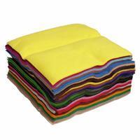 Wool Blend Felt Squares Asst Colours (22 x 22cm) Pack of 50