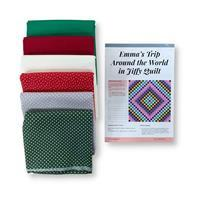 Christmas Around the World Quilt Kit (87 1/2 x 87 1/2 inches): Instructions & Fabric (9m)