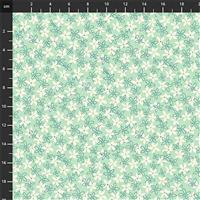 Primavera White Daisies on Mint Fabric 0.5m