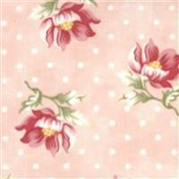 Moda Sanctuary in Pink Polka Dot Floral Fabric 0.5m