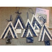 Sew with Beth Christmas Tree Bunting/Decorations Kit Blue & Silver