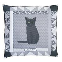 October Cat of the Month Patchwork Star Cushion Kit: Instructions & Fabric Panel
