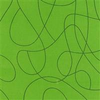 Squiggle Green Extra Wide Backing Fabric 0.5m (280cm Width)