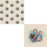 Winter Wonderland Linen Cushion Bundle: Fabric Panel & Fabric (0.5m)