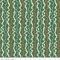 Liberty Merry & Bright All Wrapped Up Green Fabric 0.5m