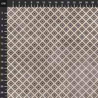 Tim Holtz Monochrome Collection Diamonds Charcoal Fabric 0.5m