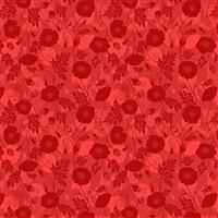 Lewis & Irene Poppies Red Poppy Fabric 0.5m