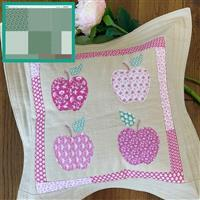 Sallieann Quilts Green Apple Cushion Kit: Instructions, Fabric Panel & Fabric (1m)