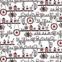 Joie De Vivre Shelf Décor White Fabric 0.5m
