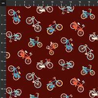 Simple Pleasures 6 on Burgundy Fabric 0.5m