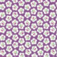 Dainty Flowers Grape 100% Cotton 0.5m