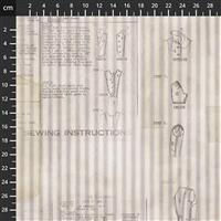 Tim Holtz Monochrome Collection Sewing Instructions Fabric 0.5m