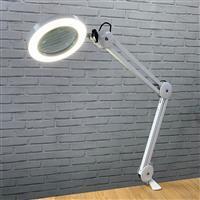 Native Lighting White Chameleon Mini USB Desk Magnifier Lamp