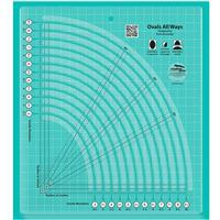 Creative Grids® Non-Slip Ovals All Ways Slotted Ruler
