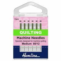 Hemline Sewing Machine Medium Quilting Needles Pack of 5