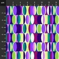 Henry Glass Mid Century Modern Lunar Cycle Fabric 0.5m