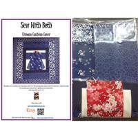 Sew with Beth Kimono Cushion Kit: Blue & Ivory