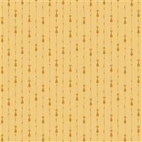Riley Blake Mod Meow Cat Stripes Honey Fabric 0.5m