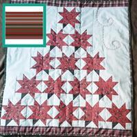 """Red Christmas Poinsettia Tree Lap Quilt (31"""" x 31"""") Kit: Instructions, Fabric Panel & Fabric (1m)"""