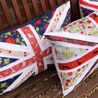 Delphine Brooks Navy Poppies Memorial Cushion Kit: Instructions & FQ (6pcs)