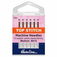 Hemline Sewing Machine Top Stitch Needles Pack of 6