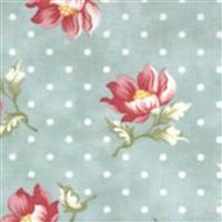Moda Sanctuary in Green Polka Dot Floral Fabric 0.5m