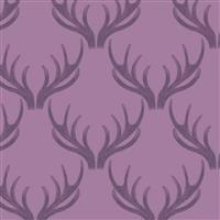 Lewis & Irene Loch Lewis Antlers On Mauve Fabric 0.5m