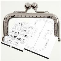 Purse Clasp Kit Silver 8cm