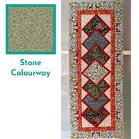 Lewis & Irene Noel in Stone Table Runner Kit: FREE Instructions & Fabric (4m)