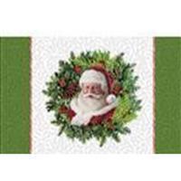 Here Comes Santa Wreath Panel 35x55cm
