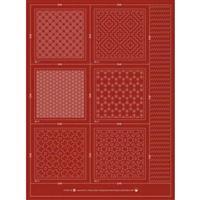 Sashiko & Hitome-Sashi Brick Colour Geo 2 Coaster Pack Of 6