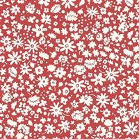 Liberty Carnaby Collection Bloomsbury Silhouette Red Fabric 0.5m
