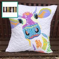 Delphine Brooks Autumn Dairy Cow Cushion Kit: Instructions, Fabric Panel & Fabric (0.5m)