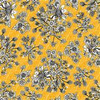 Show Me the Honey in Yellow Florel Honeycomb Fabric 0.5m