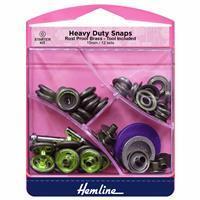 Heavy Duty Snaps Antique Brass 15mm