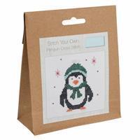 Penguin Mini Counted Cross Stitch Kit