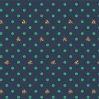Riley Blake Ahoy Mermaids Octopus Navy Metallic Fabric 0.5m