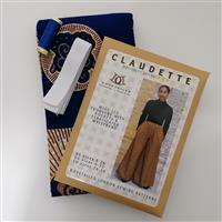 Dovetailed Claudette Trousers Sewing Kit Tortoise Shell on Blue