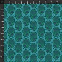 Anna Maria Horner Love Always Blue Rose Stamp Fabric 0.5m