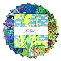 """Kaffe Fassett Collective Cool 10"""" Charm Pack of 42 Pieces"""